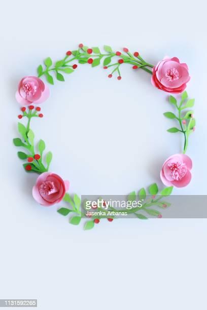 spring circle - wedding invitation imagens e fotografias de stock