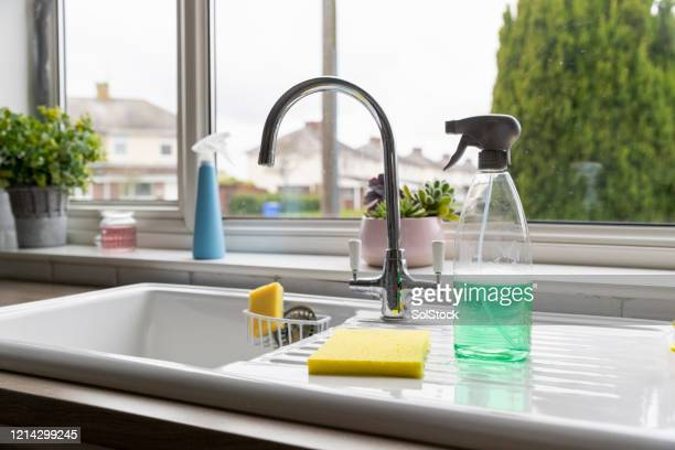 spring clean - kitchen stock pictures, royalty-free photos & images