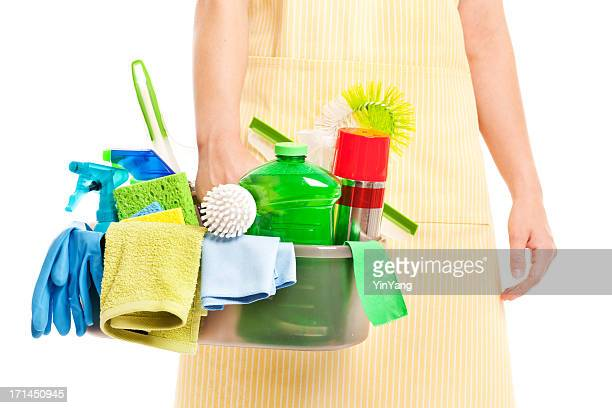 Spring Cleaning Caddy Kit with Tools and Cleansers