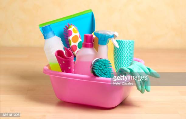 spring cleaning equipment - cleaning agent stock pictures, royalty-free photos & images