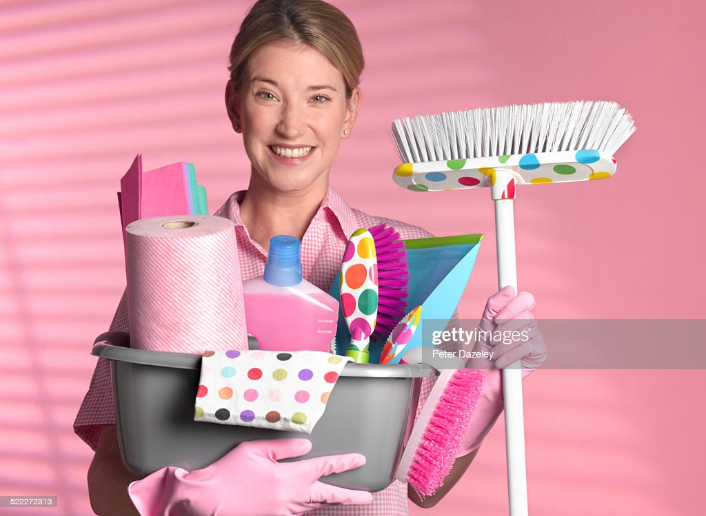 Spring cleaning : Stock Photo