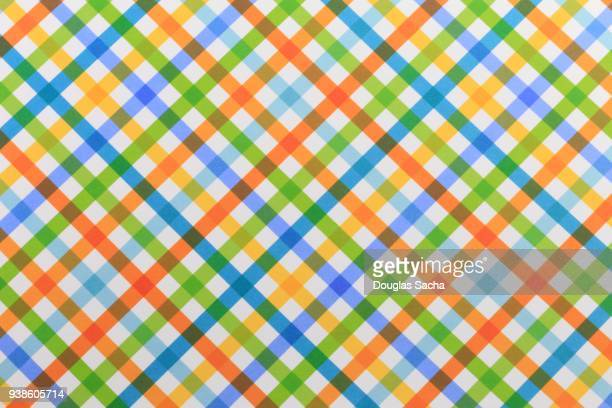 Spring colors pattern on white background