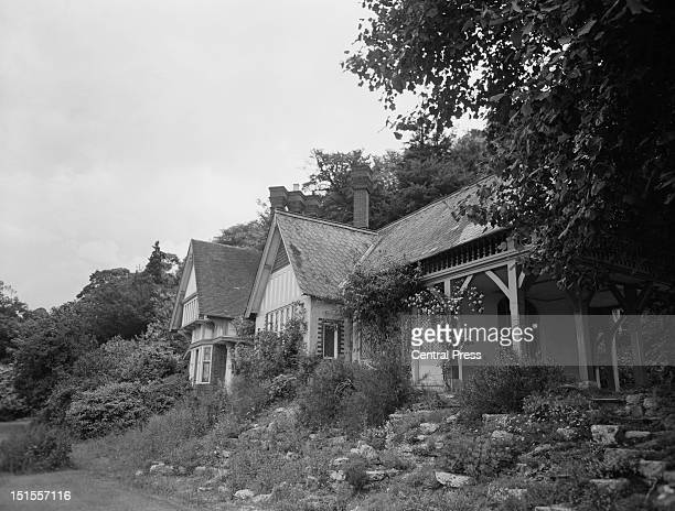 Spring Cottage Osteopath Dr Stephen Ward's country home on the Thames on Lord Astor's estate at Cliveden Buckinghamshire 28th June 1963 Christine...