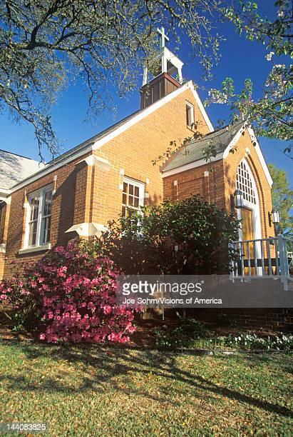 Spring day at the Brick Church in Southport North Carolina