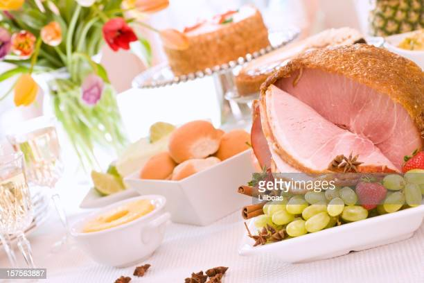 spring dining - ham stock pictures, royalty-free photos & images