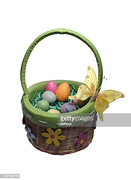 Spring Easter Basket with Butterfly