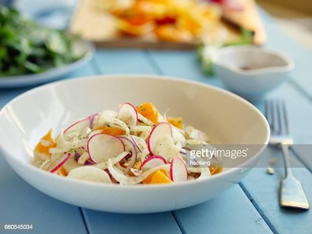 Salade de fenouil orange printemps