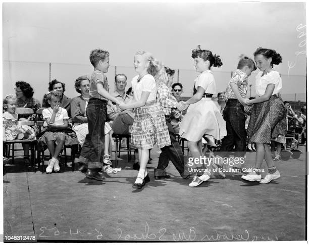 Spring festival at Cowan Avenue School 14 May 1953 Peggy Lou SiegelBruce RiblettLinda CowartLarry MoffittKathy PerryKenny MarineauSusan...