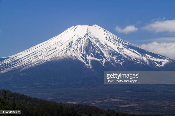 spring fuji scenery - yamanashi prefecture stock pictures, royalty-free photos & images