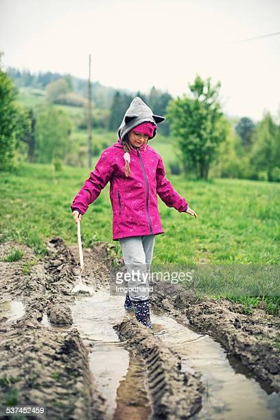 Spring fun with mud