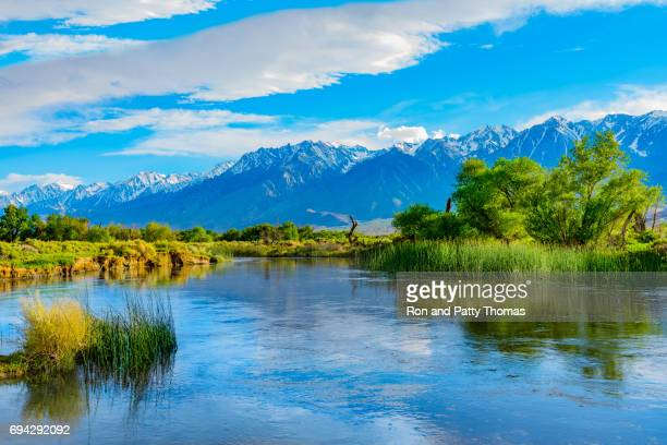 Spring in the Owens River Valley with California Sierra Nevada range, CA
