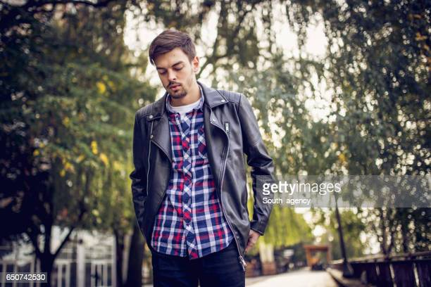 spring is here - biker jacket stock pictures, royalty-free photos & images