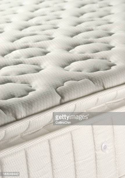 Spring mattress with flower patterns on
