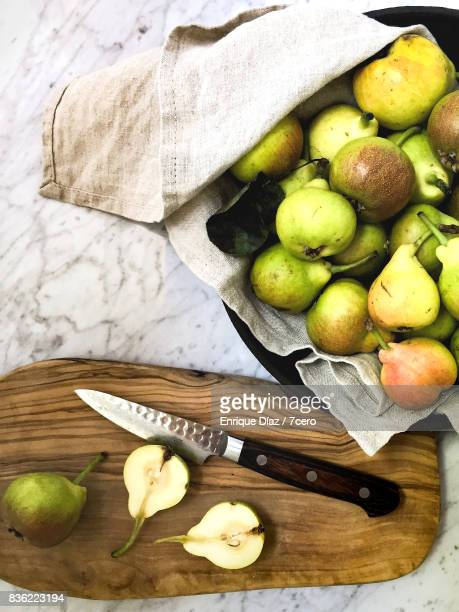 Spring Mini Pears with Chopping Board