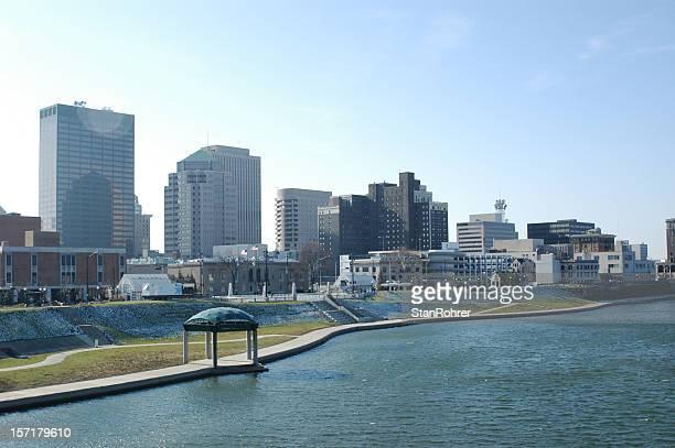 Spring Morning Dayton Ohio Cityscape Skyline