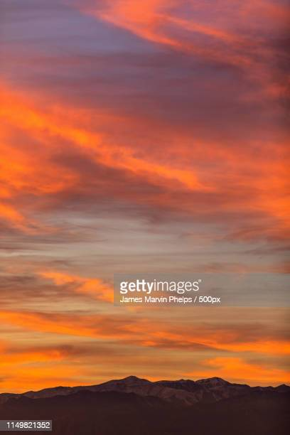 spring mountains sunset color - henderson nevada stock pictures, royalty-free photos & images