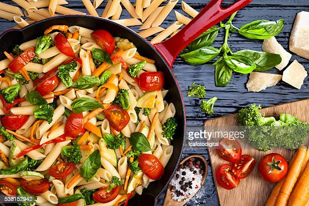 spring pasta - pasta stock pictures, royalty-free photos & images