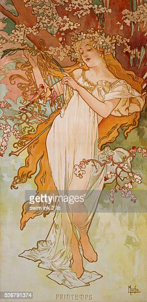 Spring Poster by Alphonse Marie Mucha