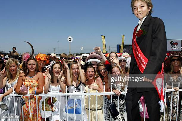 Spring Racing Carnival 2006 Emirates Stakes Day Flemington 12yearold Jordan Butler soaks up the attention of the adoring crowd of tweenies after...