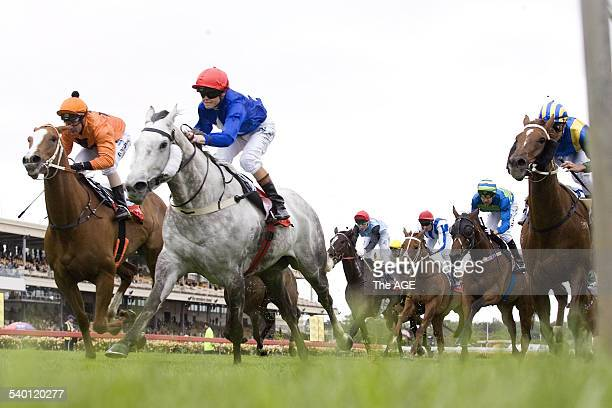 Spring Racing Carnival 2006 Jockey Craig Williams rides Unabated to victory in the Ritzenhoff Handicap on Melbourne Cup Day at Flemington Racecourse...