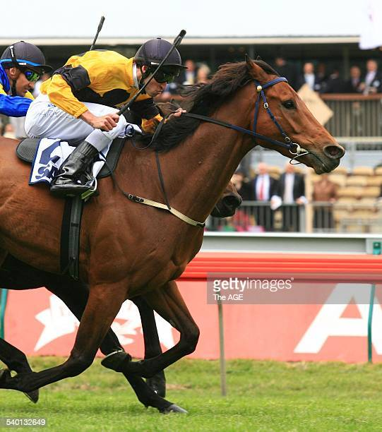 Spring Racing Carnival 2006 Jockey Steven Arnold rides Maybe Better to victory in Race 2 at Flemington Racecourse Melbourne 4 November 2006 THE AGE...