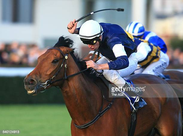 Spring Racing Carnival 2006 Jockey Steven Arnold rides to victory on Zipping in Race 9 at Caulfield Melbourne 23 September 2006 THE AGE SPORT Picture...