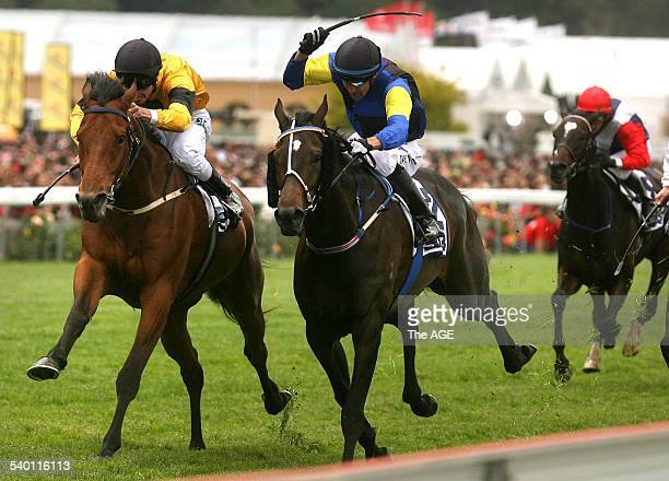 Spring Racing Carnival 2006 Maybe Better left ridden by Steven Arnold at the Derby Day Races at Flemington 4 November 2006 THE AGE SPORT Picture by...