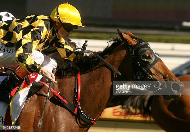 Spring Racing Carnival Caulfield Thousand Guineas Day Race 5 Craig Williams gets up to win just in time aboard Miss Finland on 18 October 2006 THE...
