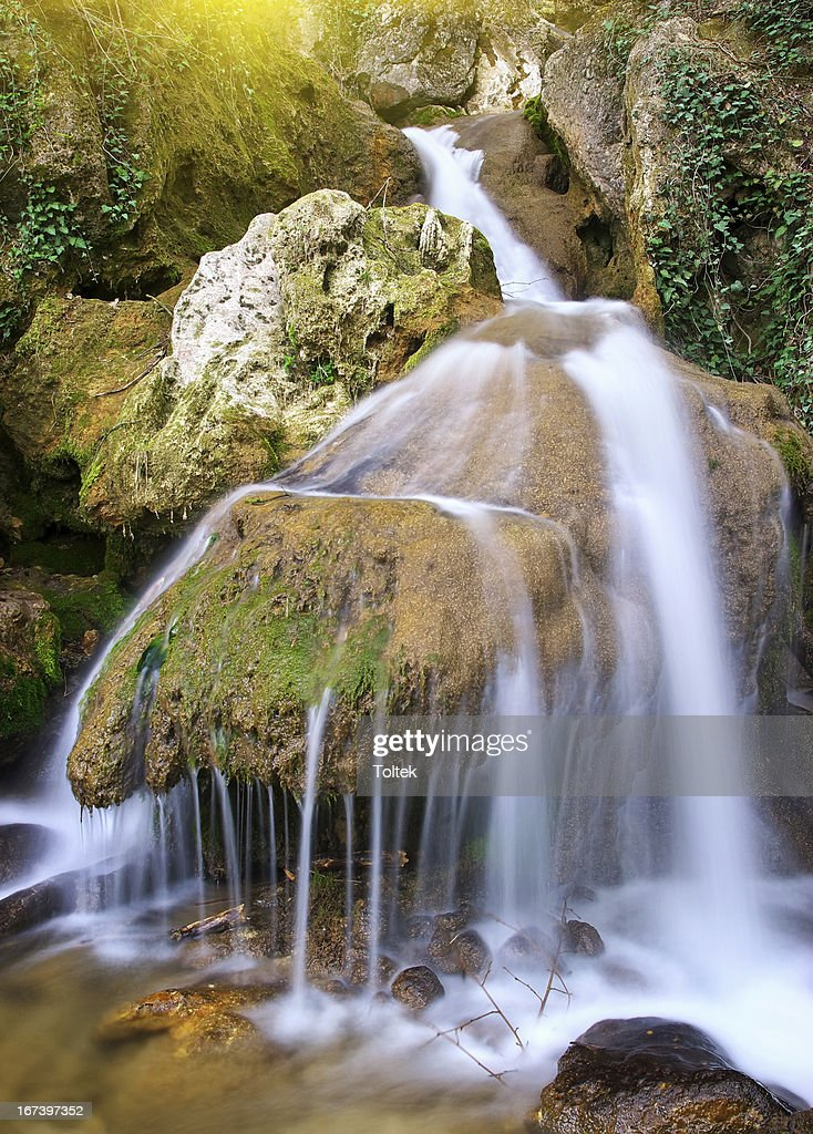 Spring rill flow : Stock Photo
