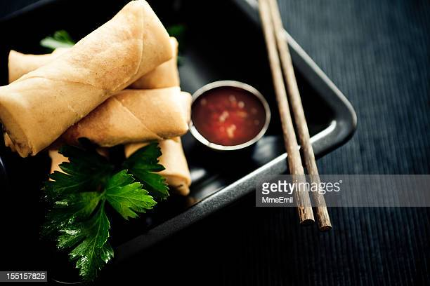 spring rolls - chinese food stock pictures, royalty-free photos & images