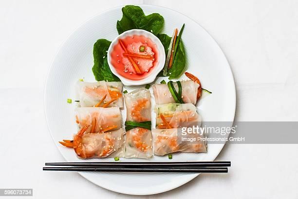 Spring rolls with prawns