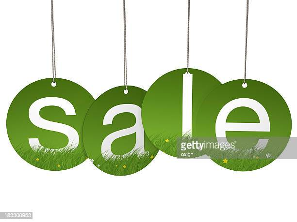Spring round hanging sale letter tags