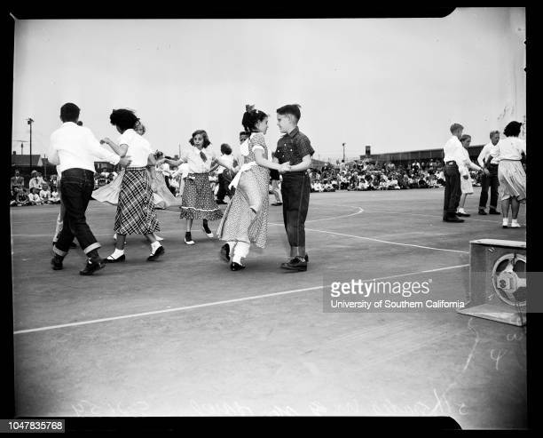 Spring School Dance Festival , 21 May 1954. Laurel Goldsmith - 6 years;Kenny Blake - 6 years;Tommy Stephens;John O'Neill;Jim Thompson;June...