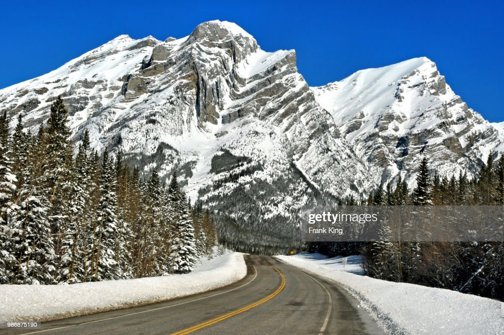 Spring snow in the Rockies : Stock Photo
