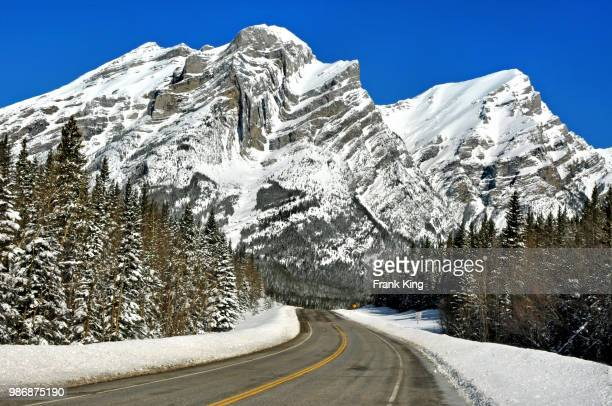 spring snow in the rockies - kananaskis country stock pictures, royalty-free photos & images