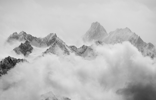 Spring snow showers in the alps 525961908