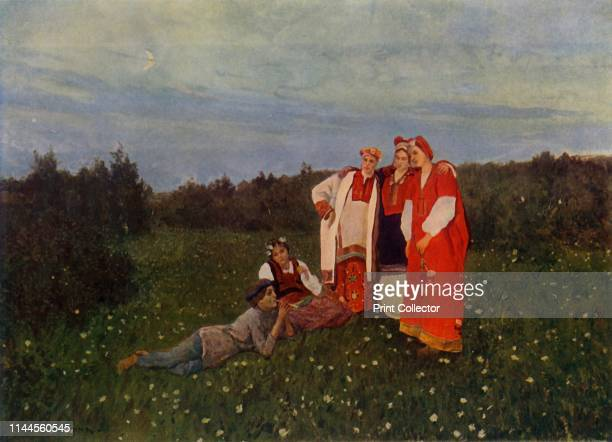 Spring Song' Painting also known as 'Northern Idyll' in the State Tretyakov Gallery Moscow From Russian Painting of the 18th and 19th Centuries by...