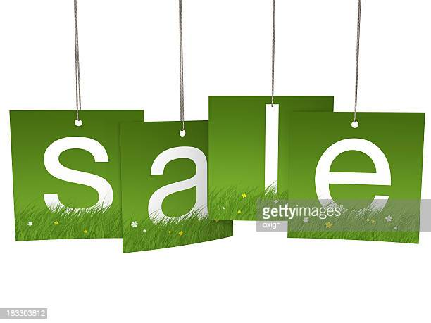 Spring square hanging sale letter tags