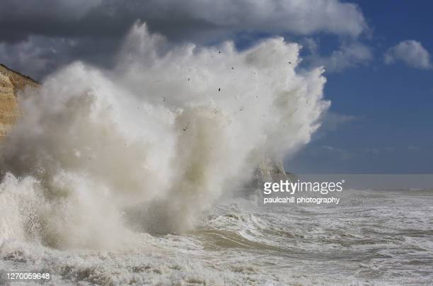 spring storm in saltdean - saltdean stock pictures, royalty-free photos & images