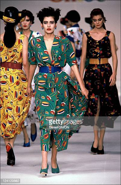 Spring Summer 1986 ready to wear collection in Paris France in October 1985