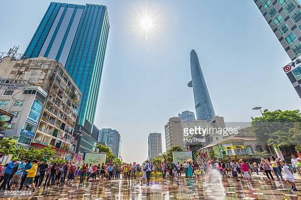 spring sunshine on the pedestrian street of saigon - ho chi minh city stock pictures, royalty-free photos & images