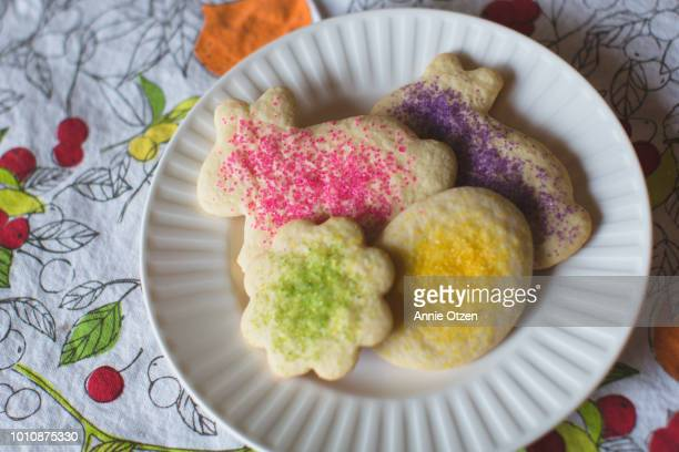 spring time sugar cookies - annie sprinkle stock pictures, royalty-free photos & images
