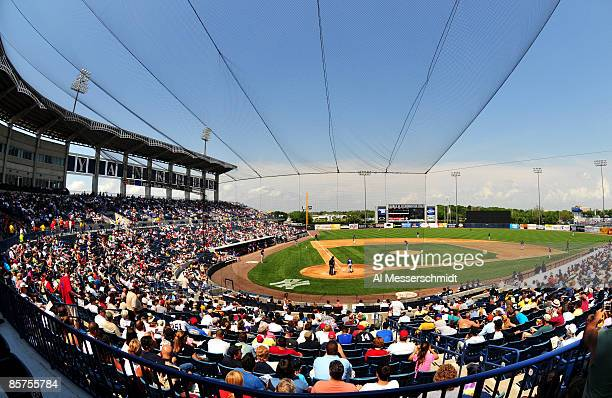 Spring training fans watch the Philadelphia Phillies play against the New York Yankees April 1, 2009 at George Steinbrenner Field in Tampa, Florida.