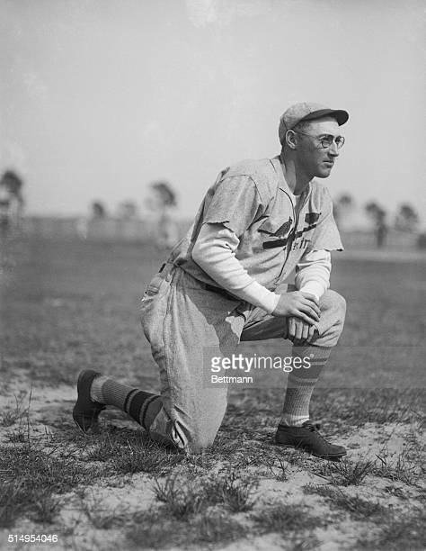 Spring training with the St Louis CardsChick Hafey veteran outfielder and the new pair of eyeglasses he wears at the spring training camp of the St...
