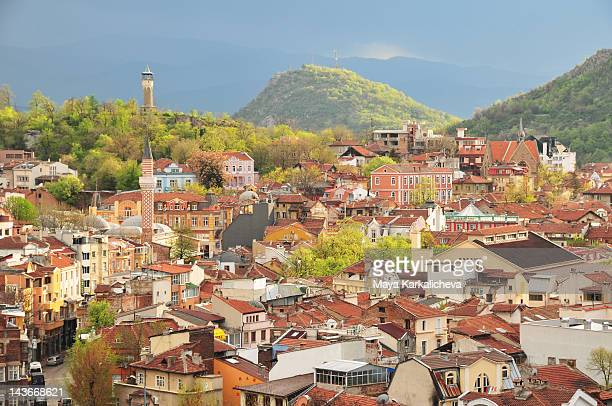 spring view of plovdiv hills in bulgaria - bulgarie photos et images de collection