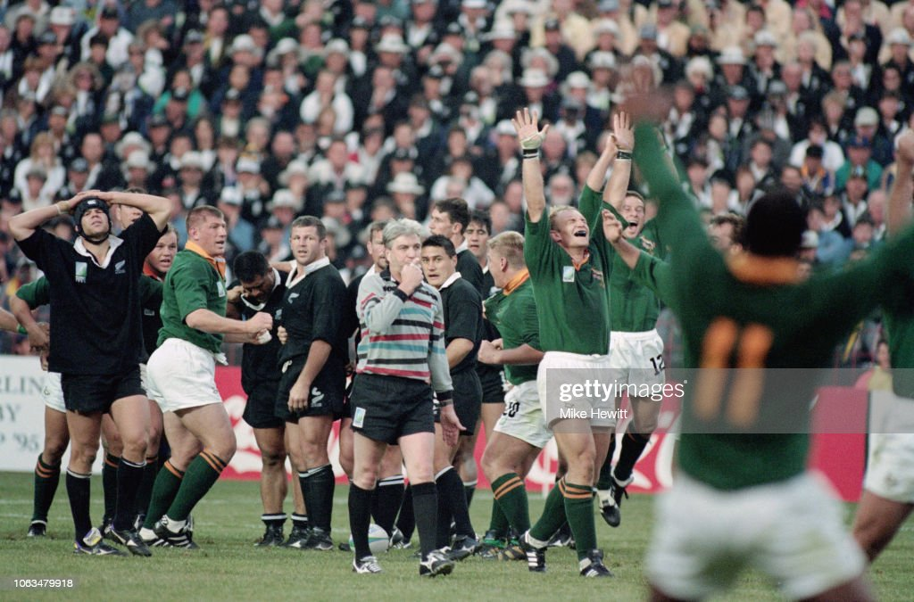 1995 Rugby World Cup Final South Africa v New Zealand : News Photo