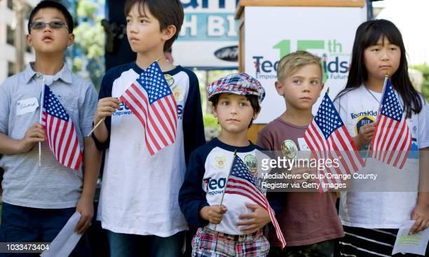 Springbrook Elementary School thirdgraders take part in the Team Kids 15th birthday celebration in Irvine on Sunday INFO Photo by MINDY shot 041716...