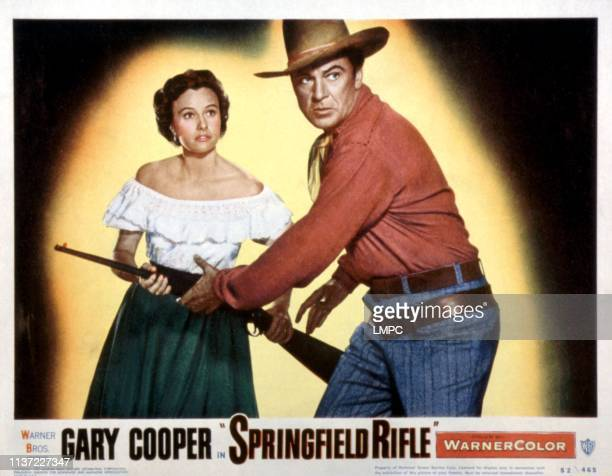 Springfield Rifle lobbycard Phyllis Thaxter Gary Cooper 1952