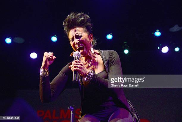 Musician Nona Hendryx performs on stage during the Palm Springs Women's Jazz Festival on October 10 2015