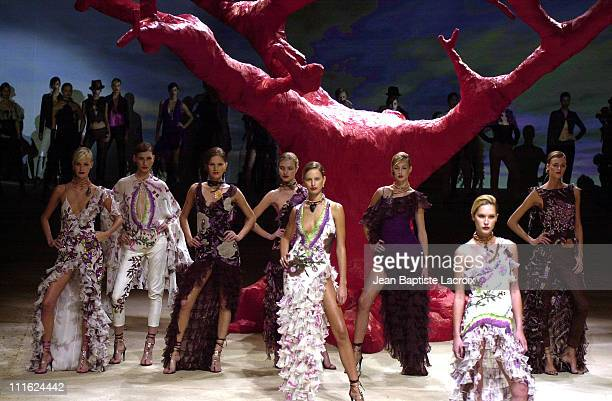 Spring-Summer 2003 during Paris Fashion Show Spring-Summer 2003 - Emanuel Ungaro at Carrousel du Louvre in Paris, France.